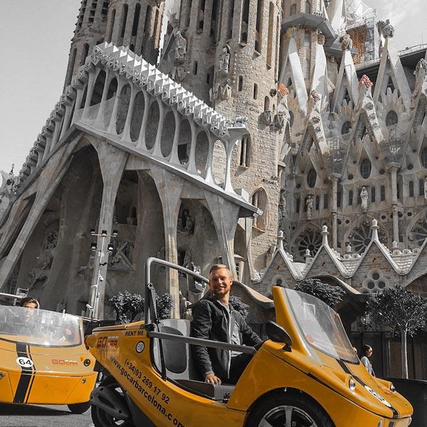 gocar barcelona discover gaudi